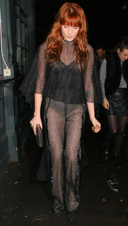 Florence Welch's sheer trousers