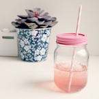 DIY Make your own Kilner jar drinks glass
