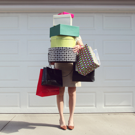 Woman shopping in the sales - fashion - handbag.com