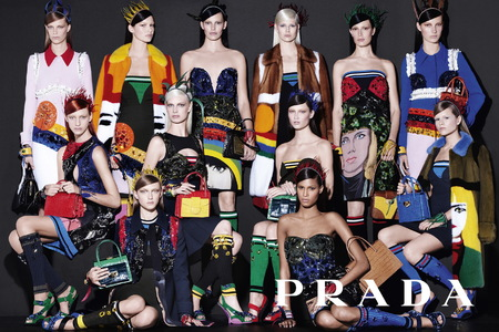 Prada SS14 Women's Ad Campaign - new season handbags - colourful bags - 1 - handbag.com