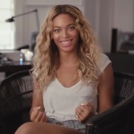 beyonce in visual album interview - talking about post baby body and getting naked - handbag.com