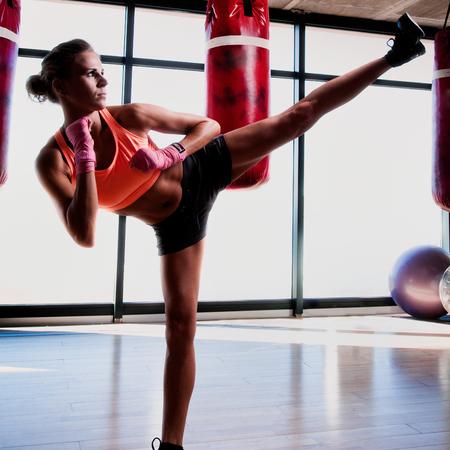 fitness class on trial - kickboxing - getty images - handbag.com
