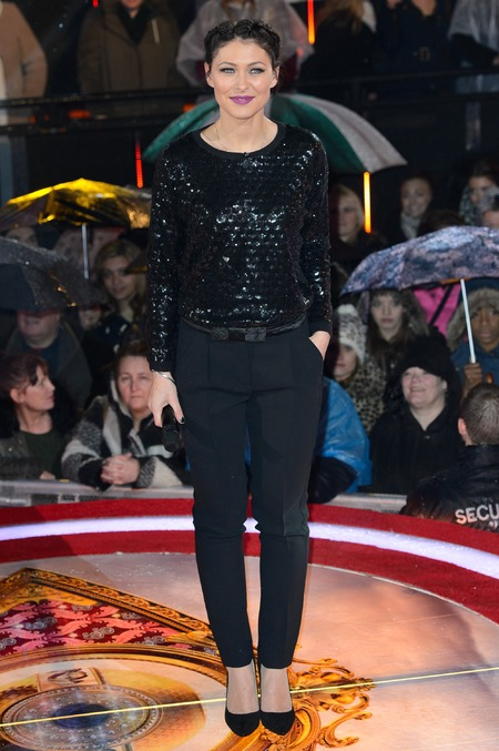 Black sequin top and trousers