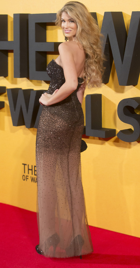 Amy Willerton's bum flashing dress