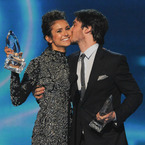 Nina Dobrev and Ian Somerhalder kiss and make up