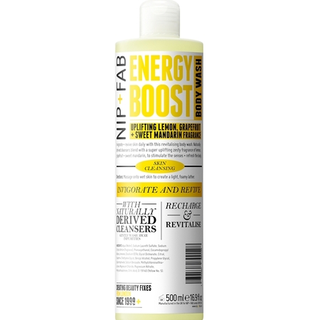ASOS nip and fab energy boost shower gel - happy shower gels - mood boosting scents and fragrances - handbag.com