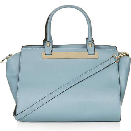 blue topshop tote bag - handbag for work - high street bags - handbag.com