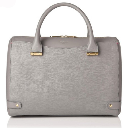 lk bennett rosamund leather handbag in purple chalk - new handbag for spring summer 2014 - handbag.com