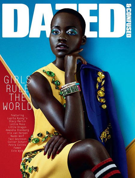 actress lupita nyongo - 12 years a slave - dazed and confused cover january 2014 - handbag.com