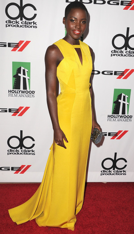 actress lupita nyongo - yellow dress - celebrity style fashion - handbag.com
