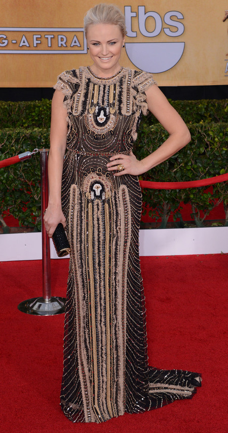 malin ackerman - sag awards 2014 - celebrity fashion trends - handbag.com