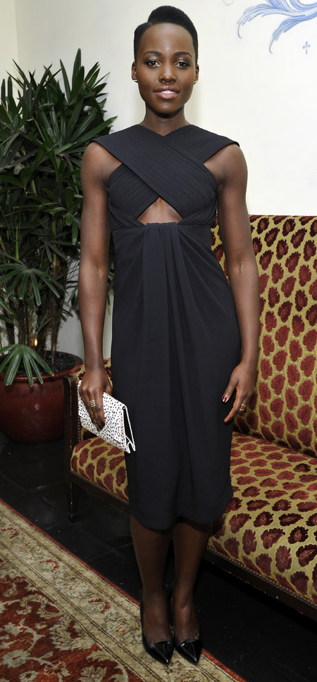 Lupita Nyong'o in Proenza Schouler black dress