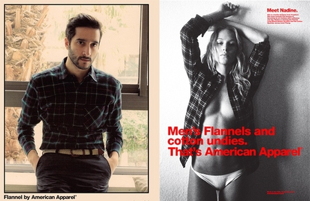 American Apparel sexist double standards advert