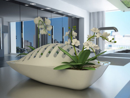 Fluidity Dish Rack that waters plants by Design Libero - food and drink news - gadgets - handbag.com