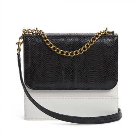 freedom of animals - black white chain handbag - ethical fashion handbags - handbag.com