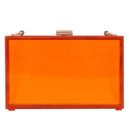mettle fair trade - ethical fashion handbags - orange box clutch - handbag.com