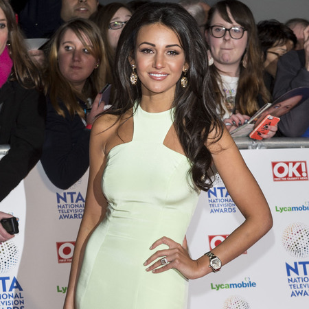 michelle keegan - white dress - national television awards 2014 - handbag.com