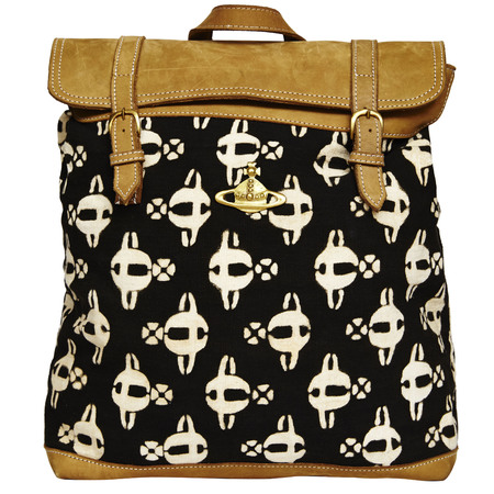 vivienne westwood africa bag collection for asos - ethical handbags - planet print backpack - handbag.com