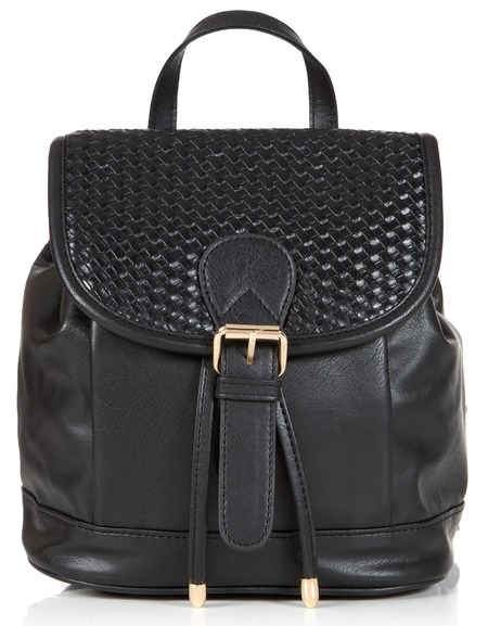 black fake leather backpack - primark spring summer 2014 - highstreet handbag trends - handbag.com