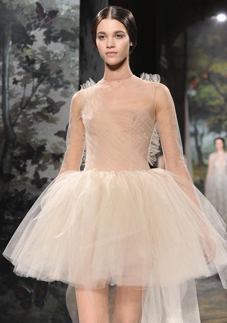 Designer wedding dress ideas from Couture fashion week - Valentino Catwalk Show - Princess dress - Fashion and weddings - trends - handbag.com