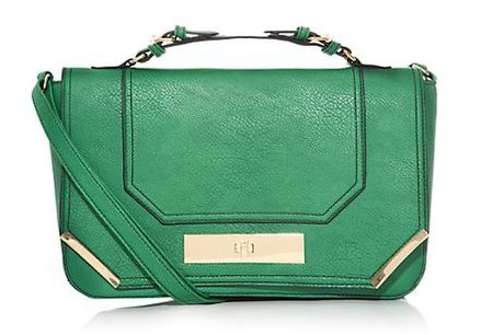 new handbag from high street - new look - green crossbody satchel bag - handbag.com