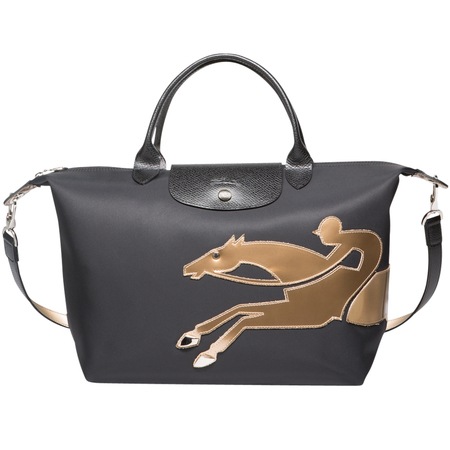 chinese new year 2014 - year of the horse - longchamp black handbag copy - handbag.com