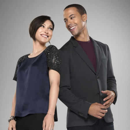 emma willis and marvin humes - bbc the voice uk - studded top - celebrity style - handbag.com