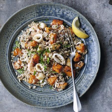 Low fat Indian seafood pilau rice recipe - Indian recipes - evening bag - handbag.com