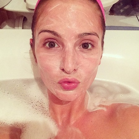 millie mackintosh - face mask in the bath - beauty secrets and skincare - hair treatment - handbag.com