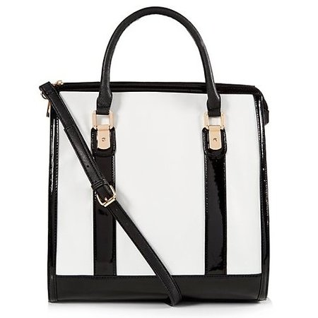 new handbag from high street - new look - black and white shopper tote bag - handbag.com