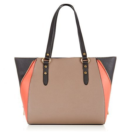 new handbag from high street - new look - nude and pink shoulder bag shopper - handbag.com