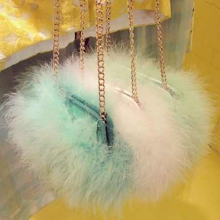 river island feather handbag - fluffy handbag trend - spring summer 2014 - handbag.com