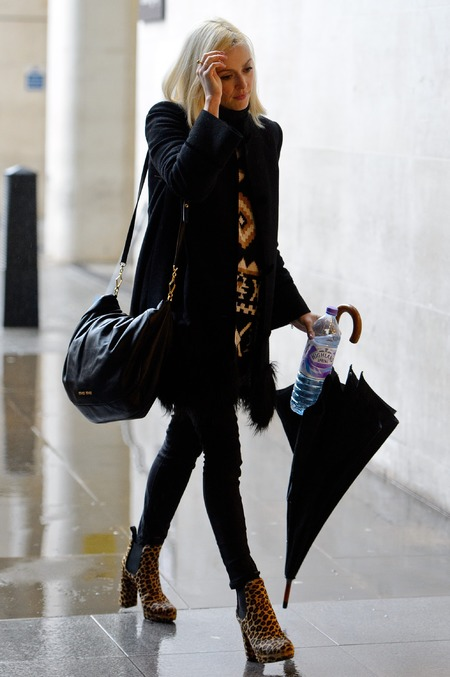 Fearne Cotton - classic bag designer - black slouch shoulder bag - miu miu handbag - celebrity fashion - handbag.com