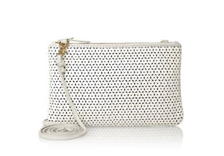 next handbags - white perforated clutch bag - spring summer bags - handbag.com
