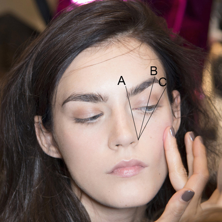 how to create the perfect eyebrow shape - eyebrow shaping rules - where eyebrow should start and finish - handbag.com