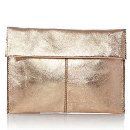 next handbags - metalic gold clutch bag - spring summer bags - handbag.com