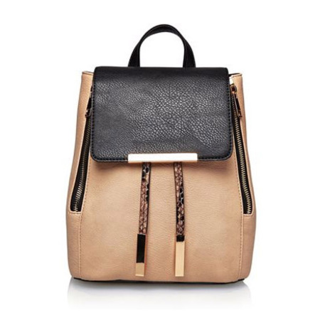 next handbags - nude and black backpack - spring summer bags - handbag.com
