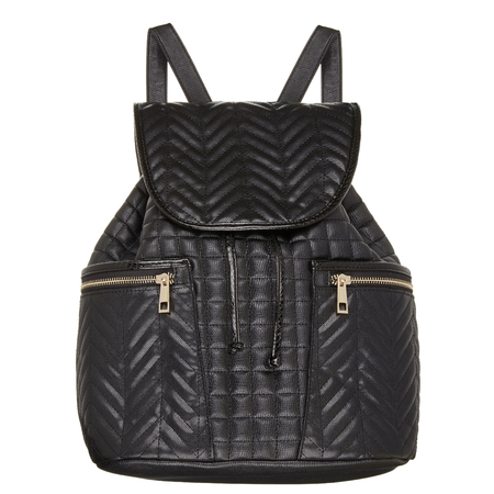 River Island - black leather look backpack - Spring Summer high street handbags - handbag.com