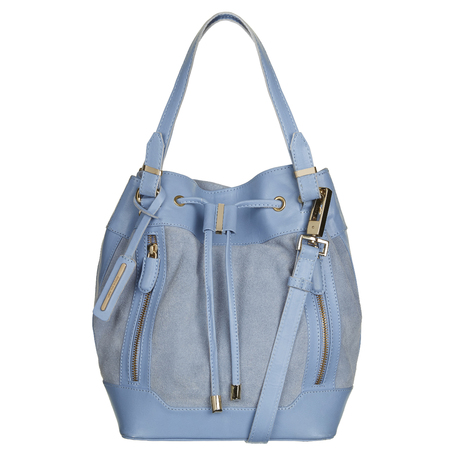 River Island - blue duffle bucket bag - Spring Summer high street handbags.com