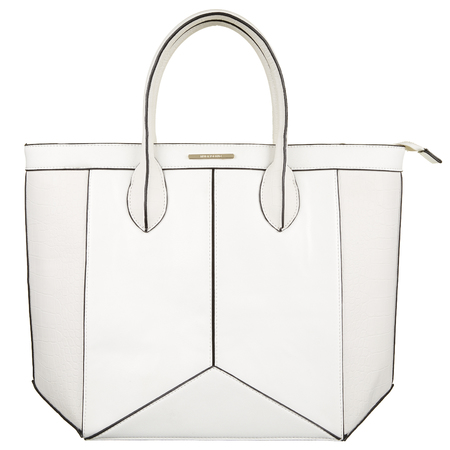 River Island - white tote bag - Spring Summer high street handbags - handbag.com
