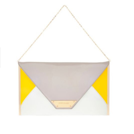 River Island - yellow and grey clutch bag - Spring Summer high street handbags - handbag.com