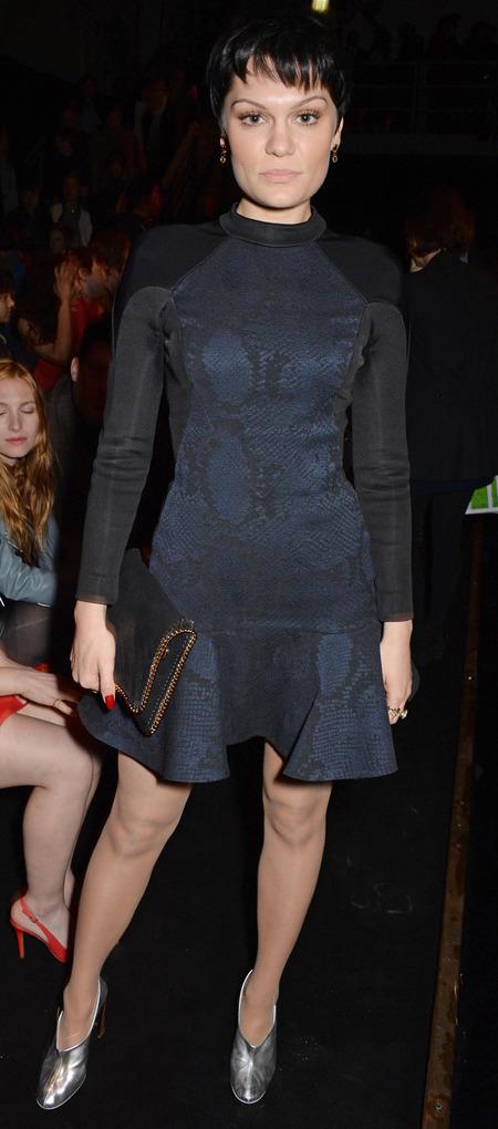 Jessie J's leather Stella McCartney clutch