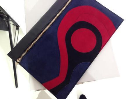 Victoria Beckham - intarsia detail zip pouch clutch - NYFW - handbag.com