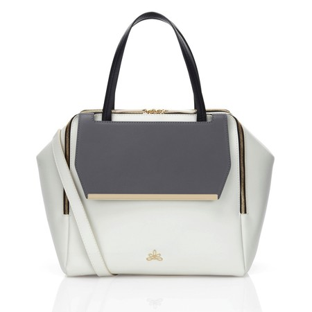 bilbao-white-grey-milli millu handbag - binky felstead whats in my handbag.com