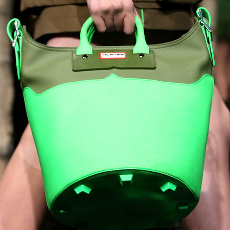 Hunters Original green bucket bag