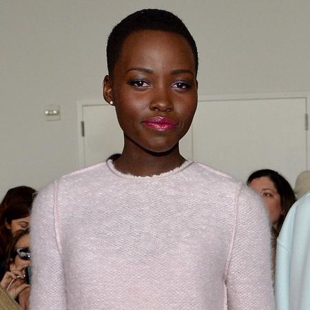 Lupita Nyongo'o's fuchsia pink lipstick