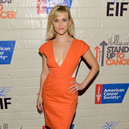 reese witherspoon - orange dress - spring trends 2014 - petite - handbag.com