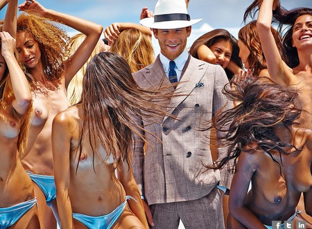 Suit Supply sexist adverts - naked women adverts - misogynist adverts - sex sells - spring summer ad campaign - women's news - handbag.com