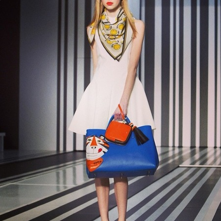 anya hindmarch new designer handbag - frosties and cornflakes print - london fashion week autumn winter 2014 - handbagcom