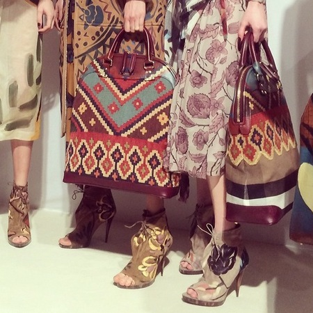 burberry bloomsbury bag - new designer handbag trends - london fashion week autumn winter 2014 - handbag.com